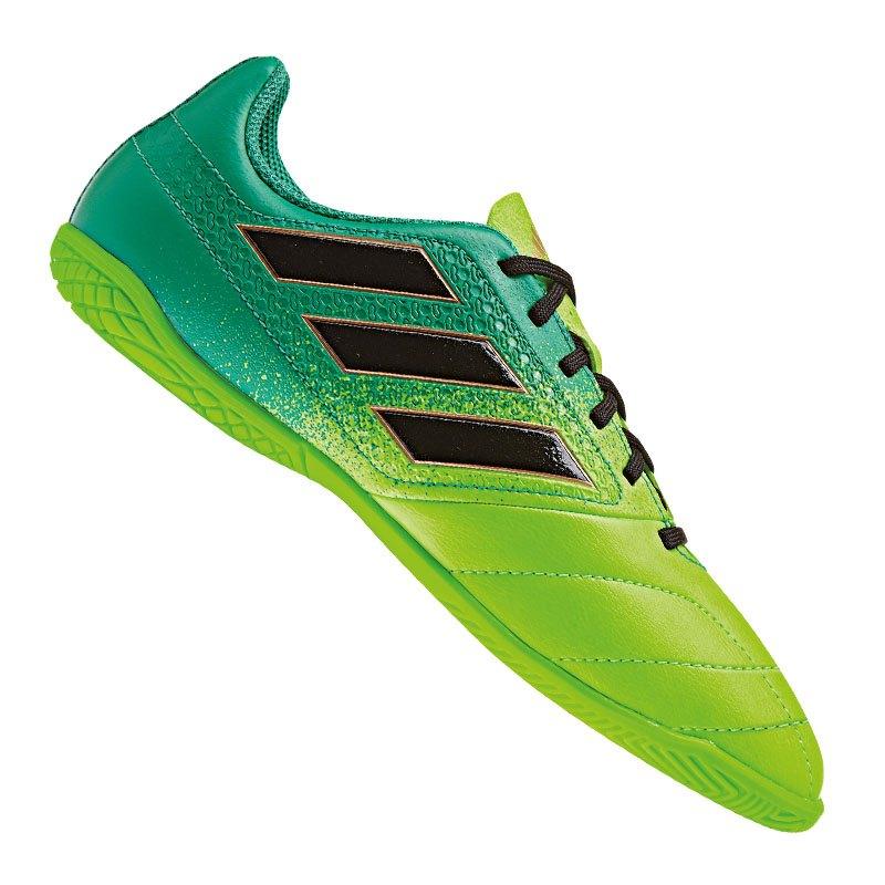 d1c41f3948a adidas ACE 17.4 IN Halle J Kids Grün Schwarz | Fussball | Schuh ...