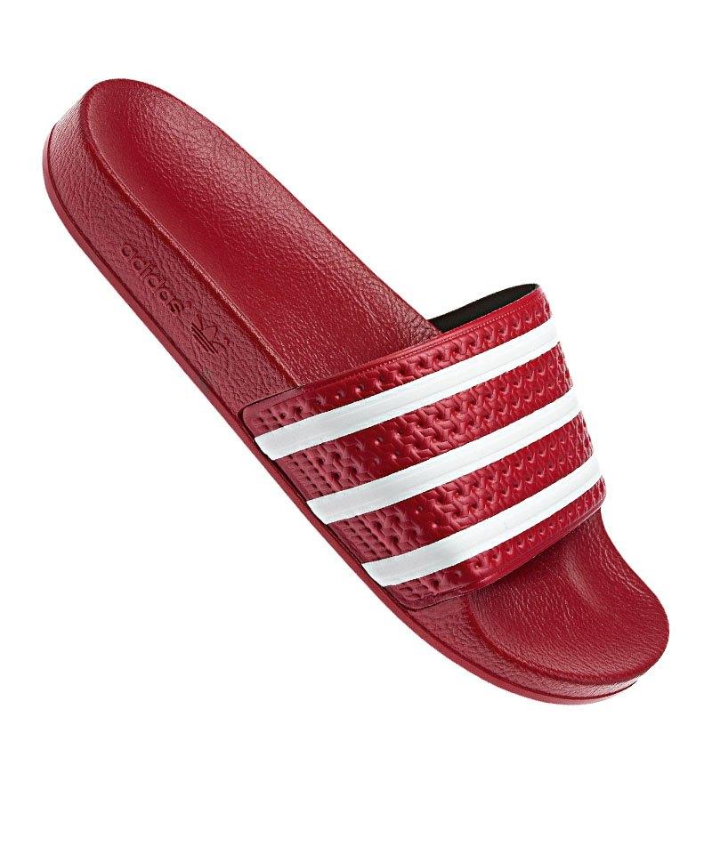 Adidas Originals Adilette Badelatschen Rot Weiss