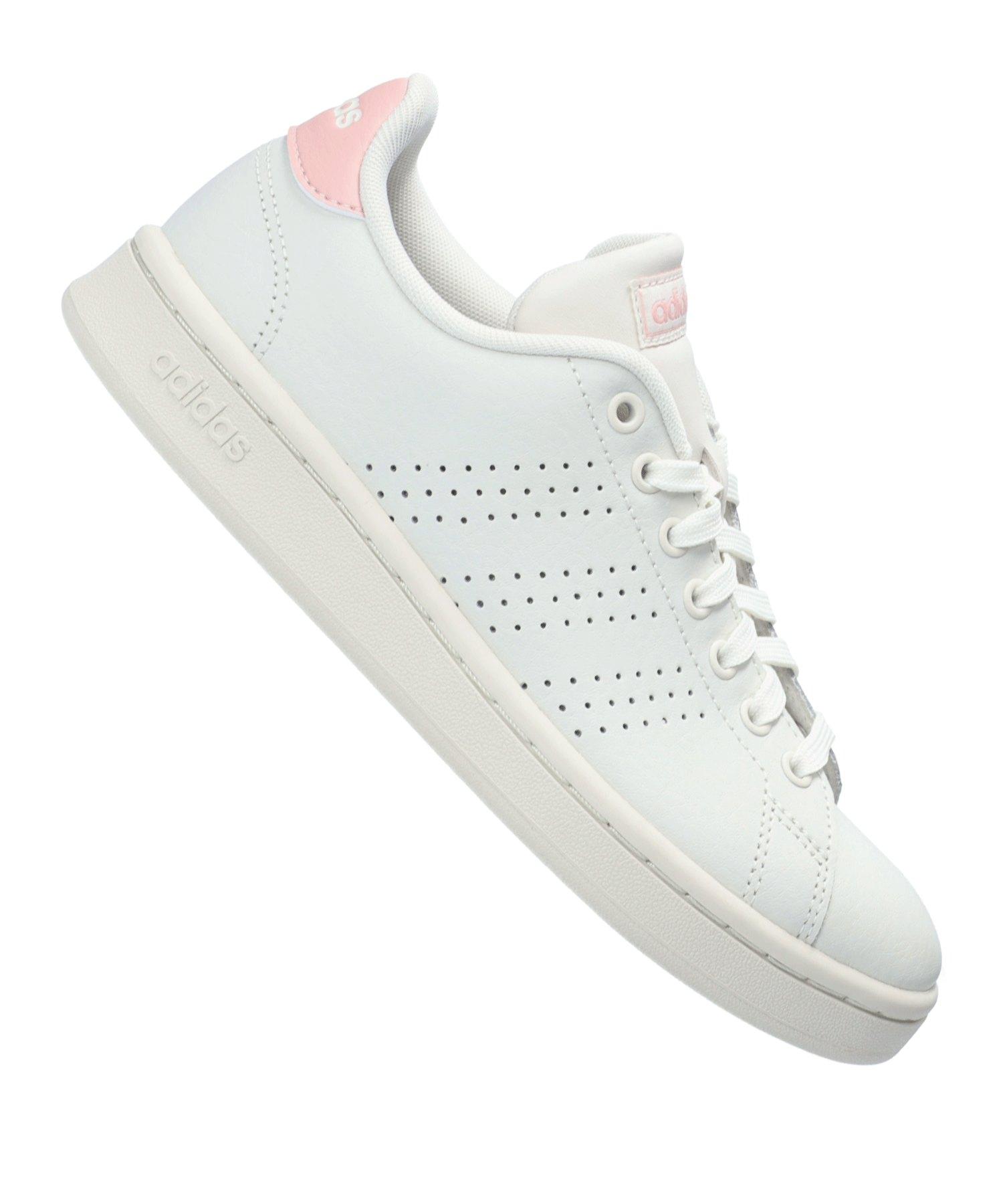 adidas Advantage Sneaker Damen Weiss Rosa
