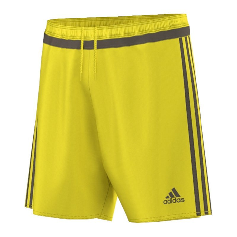 adidas campeon 15 short hose kurz gelb grau matchshort. Black Bedroom Furniture Sets. Home Design Ideas
