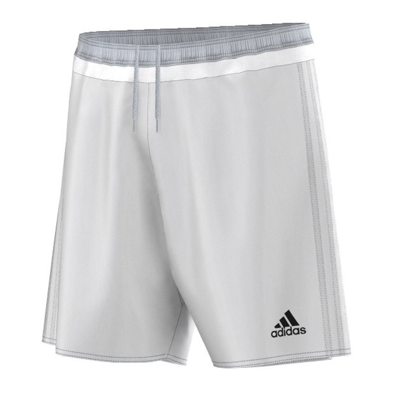 adidas campeon 15 short hose kurz weiss grau matchshort. Black Bedroom Furniture Sets. Home Design Ideas