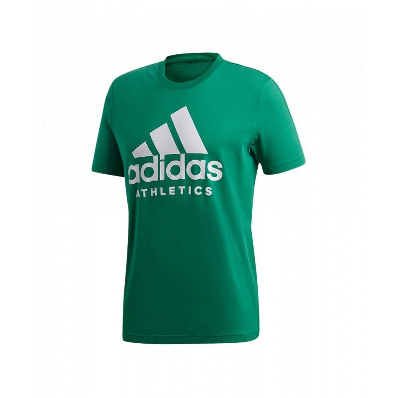 Neu adidas Sport ID T Shirt Grün Weiss