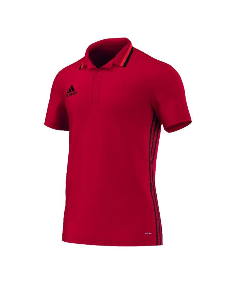 adidas Condivo 16 CL Poloshirt Rot Schwarz