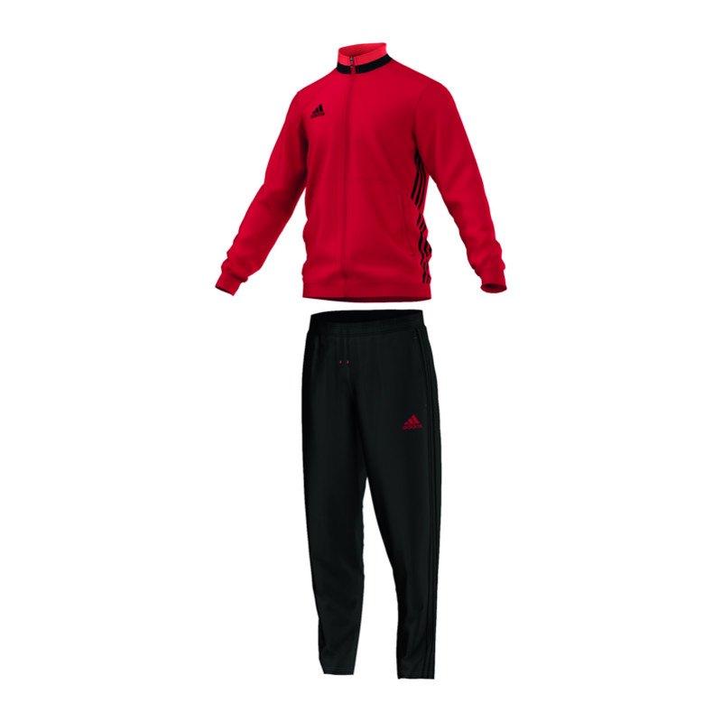 adidas condivo 16 trainingsanzug rot schwarz m nner. Black Bedroom Furniture Sets. Home Design Ideas