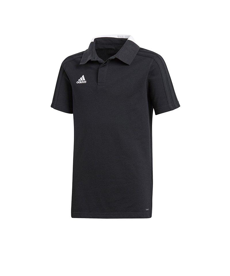 adidas Condivo 18 Cotton Poloshirt Kids Schwarz