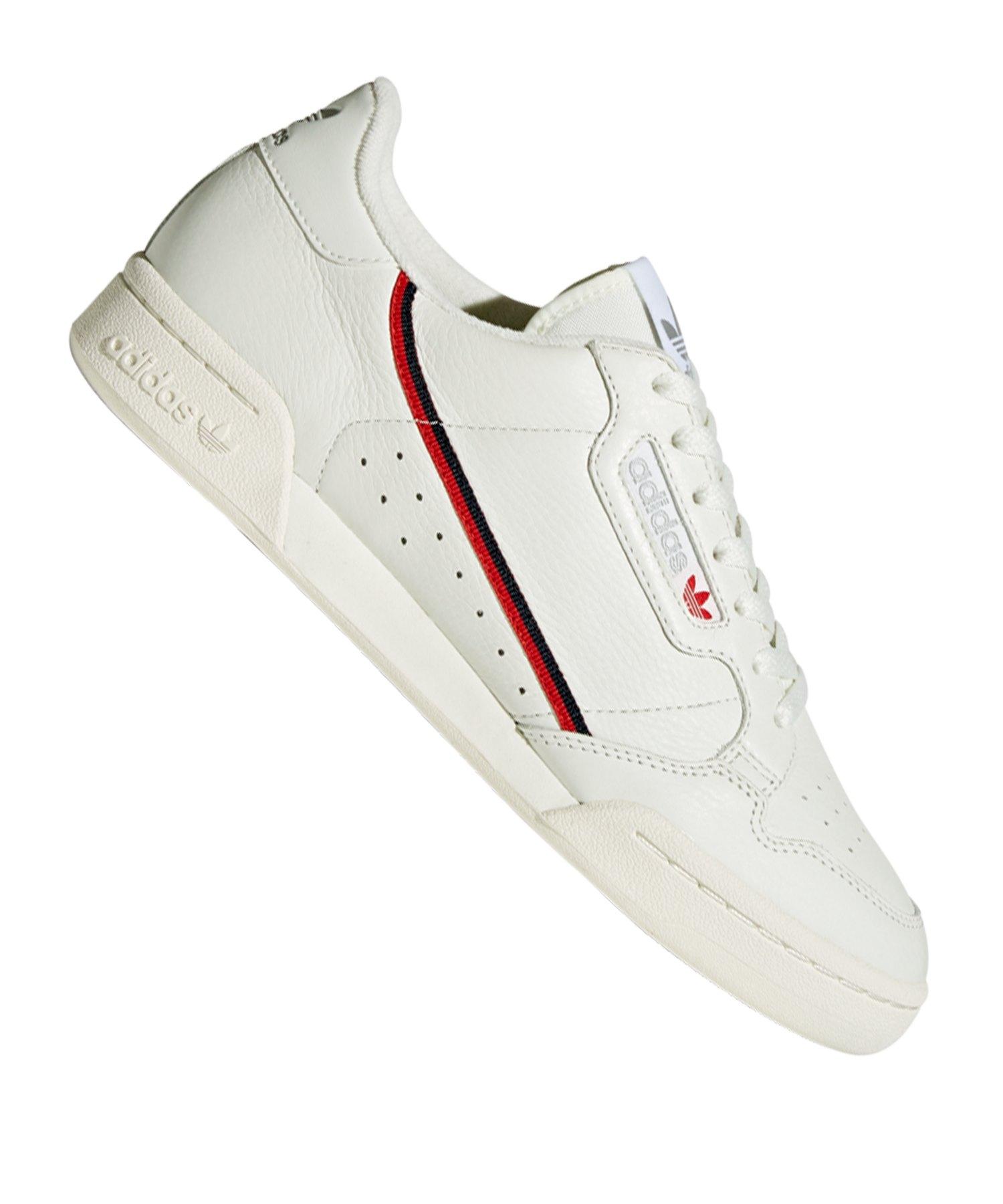 Herren adidas Weiß rot Continental 80 Sneaker