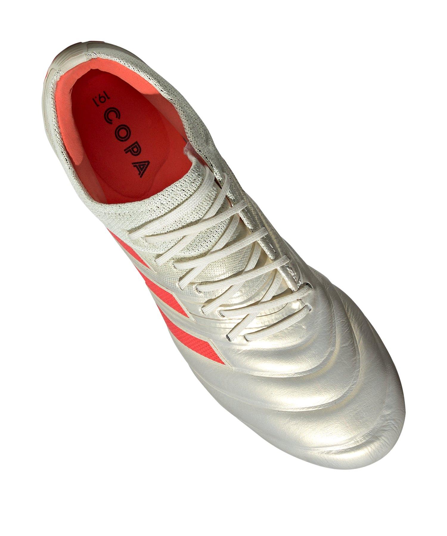 sports shoes 1a53f fedf1 adidas COPA 19.1 FG Weiss Rot  Fussballschuhe  Rasen  Ballgefühl   Nocken  10107590