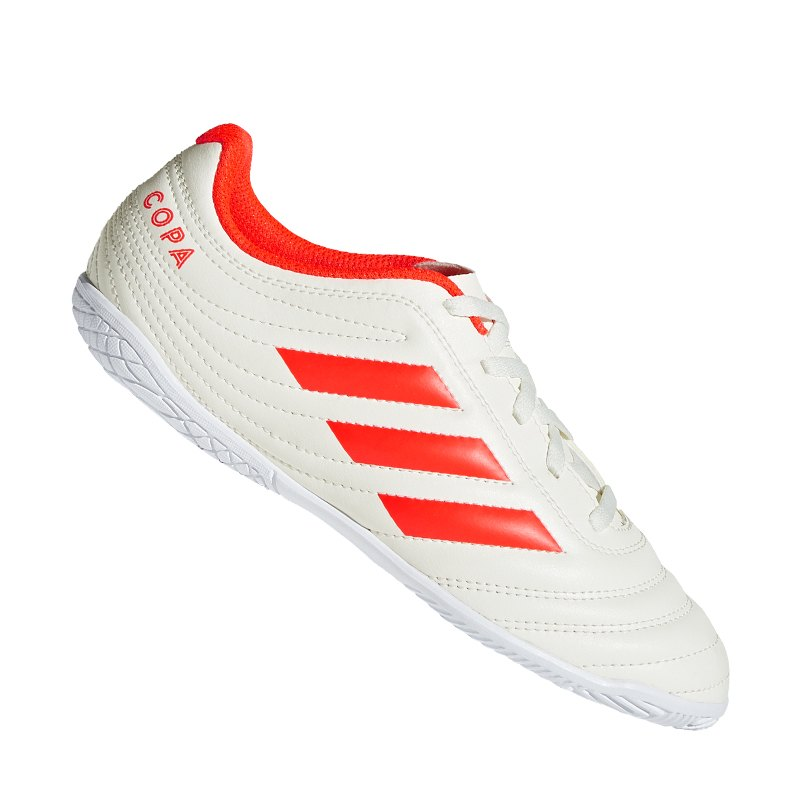 promo code 4c6f4 28716 adidas COPA 19.4 IN J Halle Kids Weiss Rot - weiss