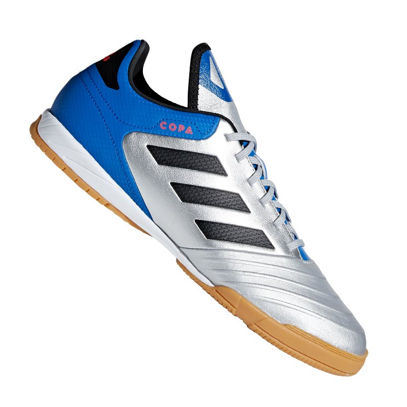 new product dc278 05dca adidas COPA Tango 18.3 IN Halle Silber Blau - silber