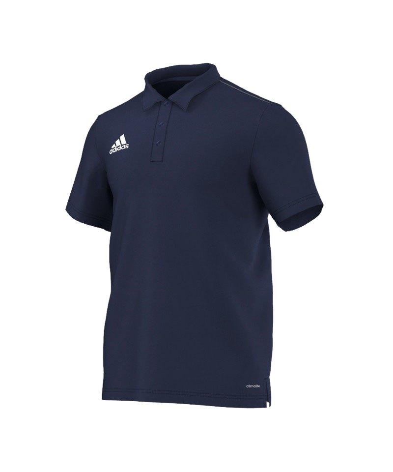 adidas Core 15 ClimaLite Poloshirt Blau Weiss