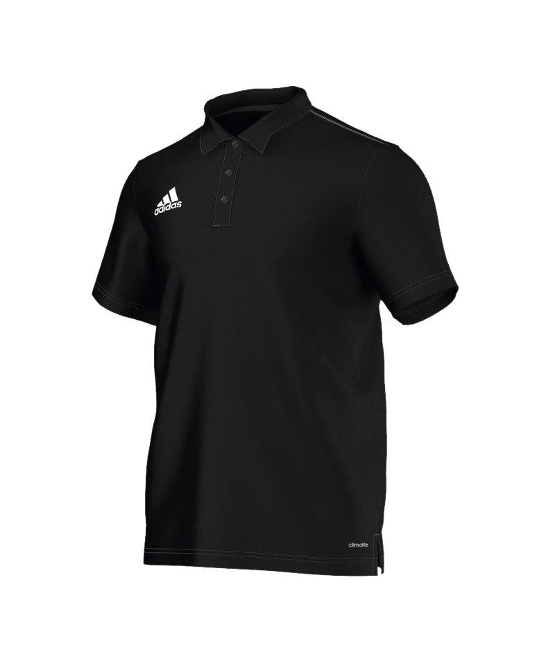 premium selection 5c379 d15a7 adidas Core 15 ClimaLite Poloshirt Schwarz Weiss