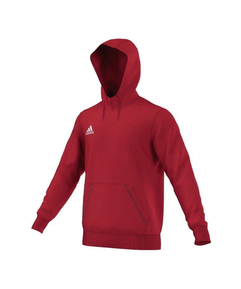 adidas Core 15 Hoody Kapuzenpullover Rot   Sweatshirt   Pullover ... 0e5b8df03c
