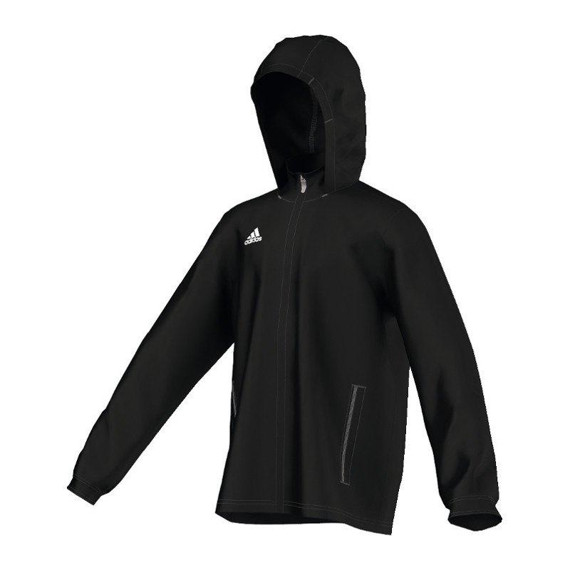 adidas core 15 rain jacket regenjacke kids schwarz. Black Bedroom Furniture Sets. Home Design Ideas