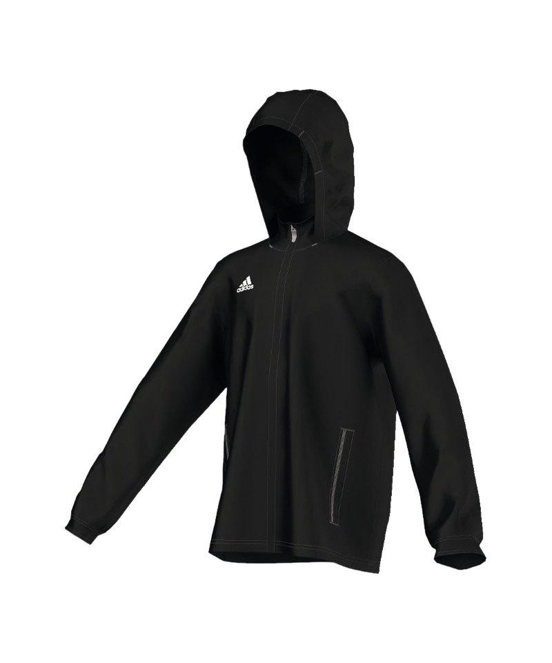 adidas core 15 rain jacket regenjacke schwarz. Black Bedroom Furniture Sets. Home Design Ideas