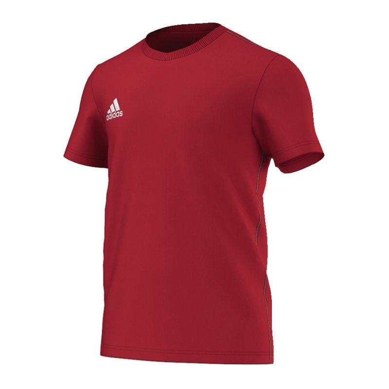 adidas core 15 tee t shirt rot weiss trainingsshirt. Black Bedroom Furniture Sets. Home Design Ideas
