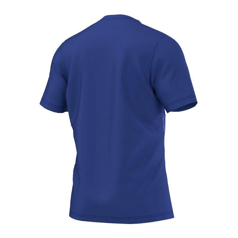 adidas core 15 trainingsshirt blau weiss t shirt. Black Bedroom Furniture Sets. Home Design Ideas
