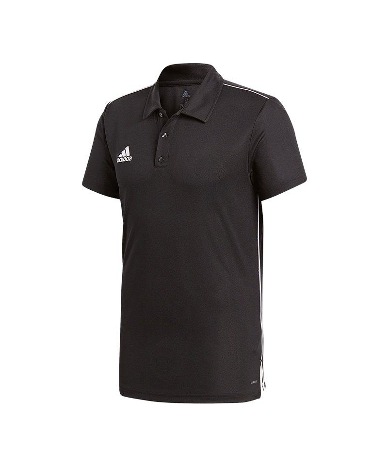adidas Core 18 ClimaLite Poloshirt Rot Weiss