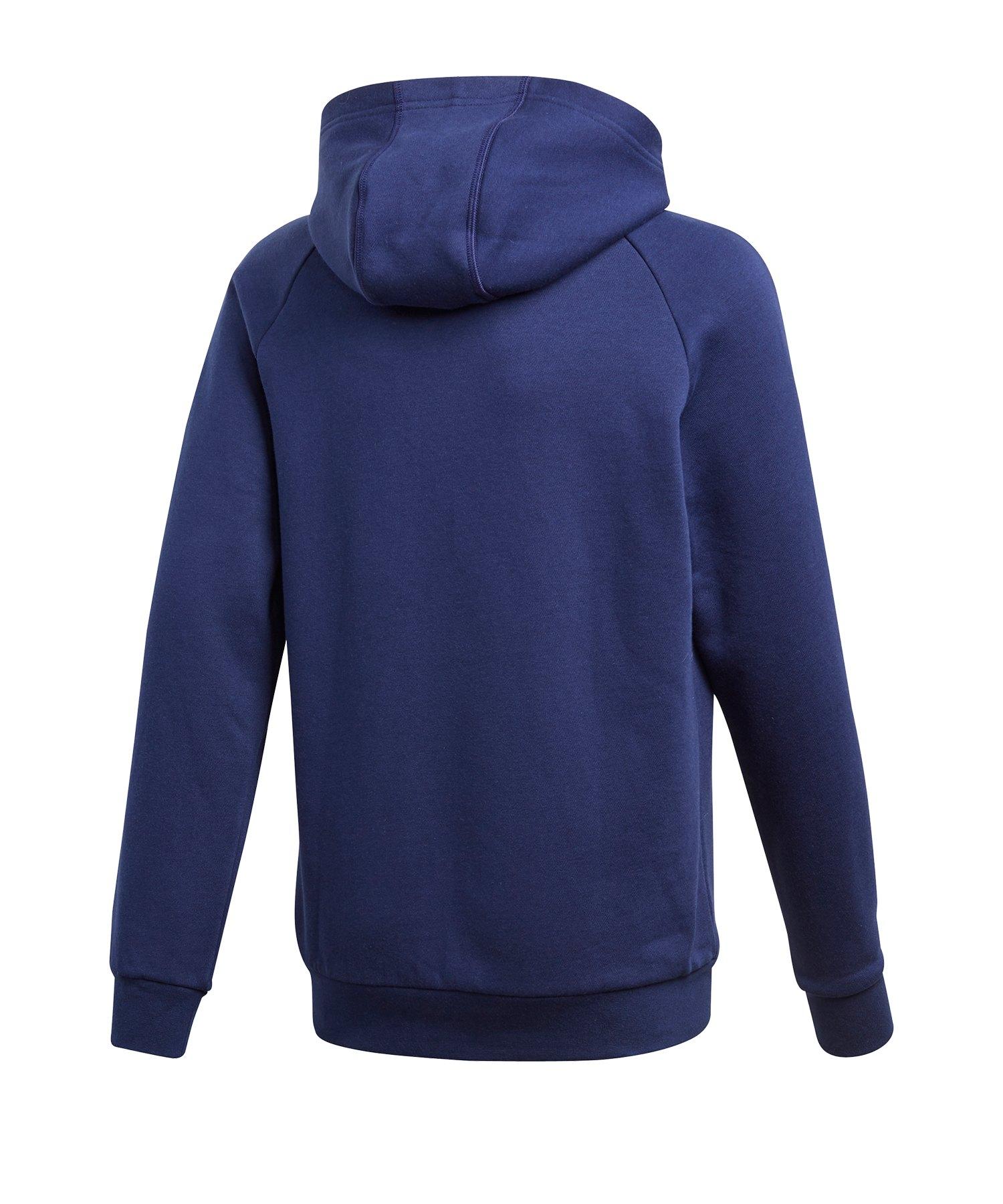 adidas Core 18 Hoody Kapuzensweatshirt Kids Blau