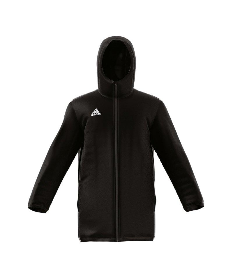 adidas Core 18 Stadium Jacket Jacke Schwarz Weiss