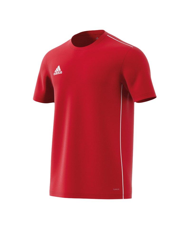 e0847ecc9e7 adidas Core 18 Trainingsshirt Rot Weiss   Shirt   Sportbekleidung ...
