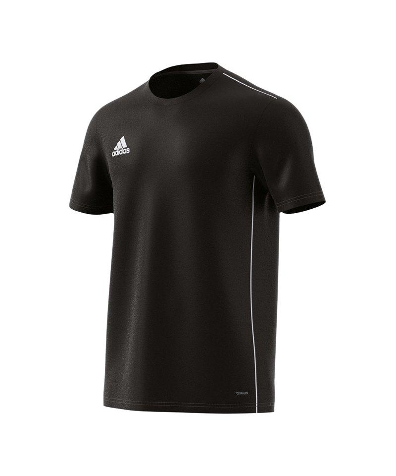 adidas Core 18 Trainingsshirt Schwarz Weiss