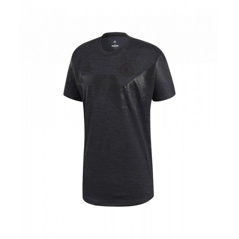 adidas DFB Deutschland Tee T Shirt Schwarz