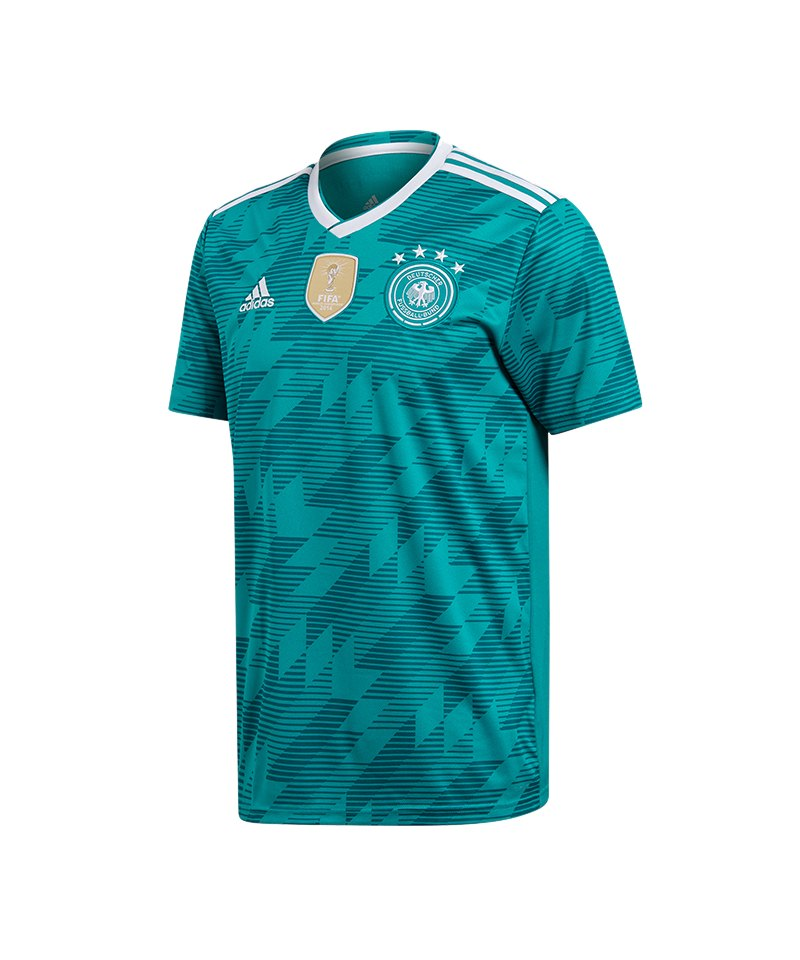 adidas dfb deutschland trikot away wm 2018 t rkis. Black Bedroom Furniture Sets. Home Design Ideas