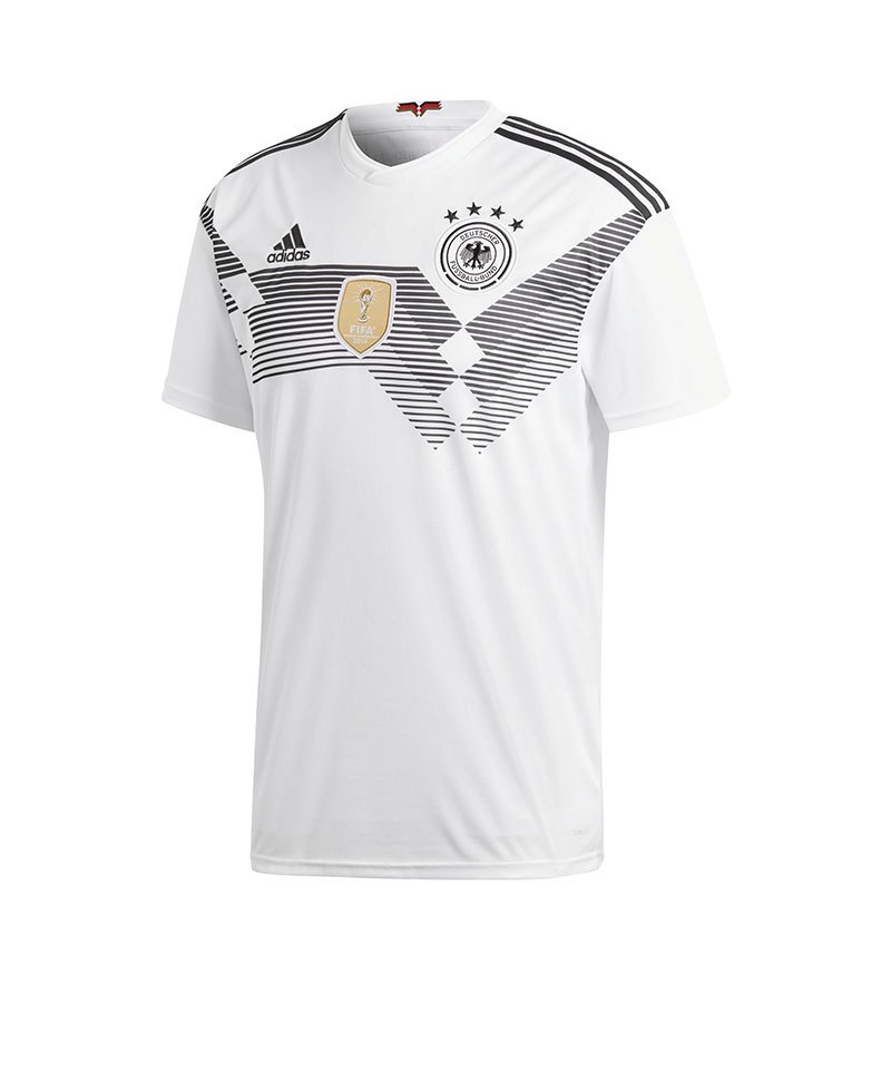 adidas dfb deutschland trikot home wm 2018 weiss. Black Bedroom Furniture Sets. Home Design Ideas
