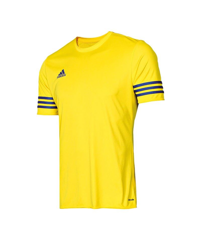 adidas entrada 14 trikot kurzarm gelb blau mannschaft teamsport ausr stung spiel. Black Bedroom Furniture Sets. Home Design Ideas
