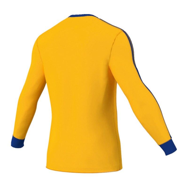 adidas estro 13 trikot langarm gelb blau jersey long sleeve. Black Bedroom Furniture Sets. Home Design Ideas