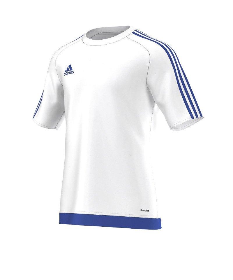 adidas estro 15 trikot kurzarm weiss blau kurzarmtrikot jersey herrentrikot teamwear. Black Bedroom Furniture Sets. Home Design Ideas