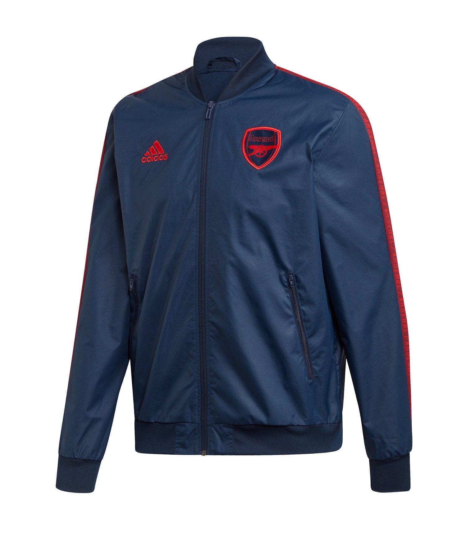 adidas FC Arsenal London Anthem Jacke Blau