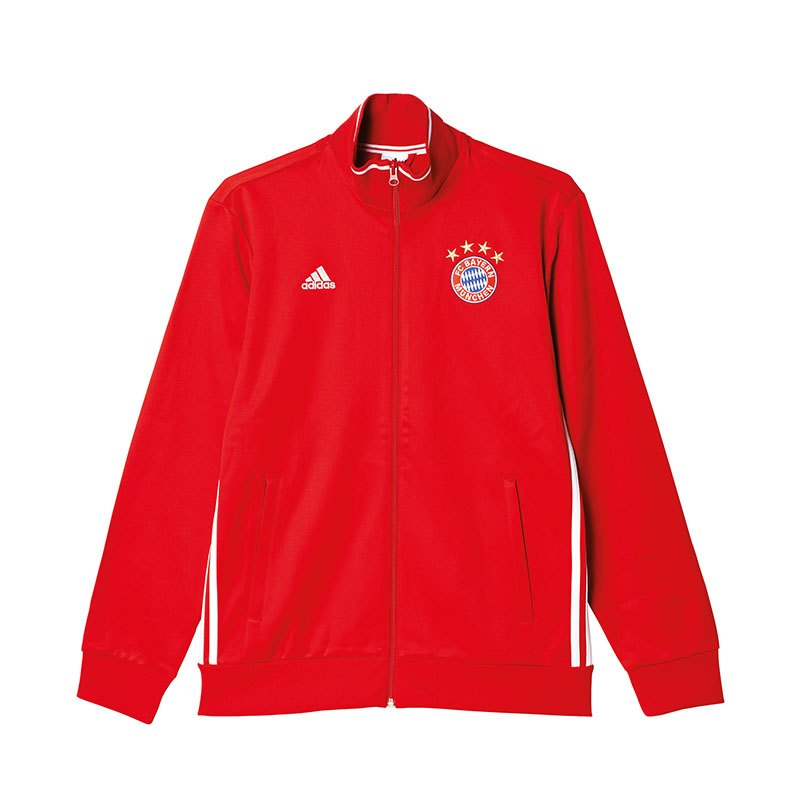 adidas fc bayern m nchen 3s track top jacke rot jacket. Black Bedroom Furniture Sets. Home Design Ideas