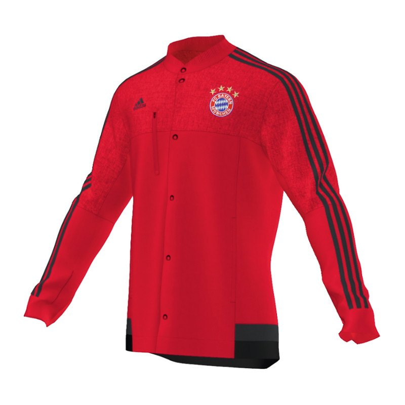 adidas fc bayern m nchen anthem jacke rot 14 15. Black Bedroom Furniture Sets. Home Design Ideas