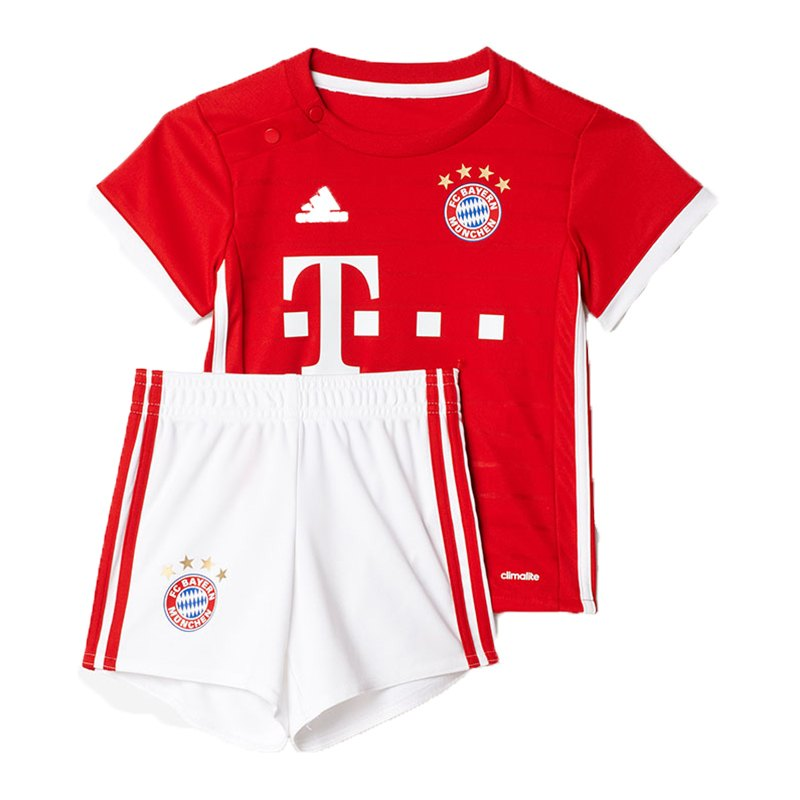 adidas fc bayern m nchen babykit home 2016 17 rot. Black Bedroom Furniture Sets. Home Design Ideas