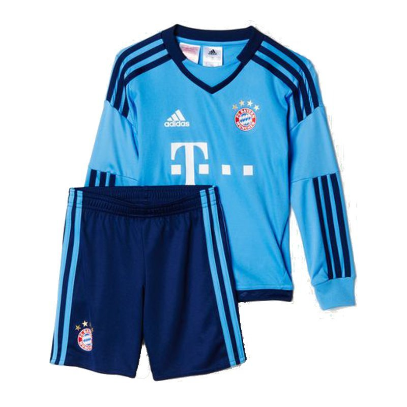 adidas fc bayern m nchen minikit home torwart deutscher meister rekordmeister trikot. Black Bedroom Furniture Sets. Home Design Ideas