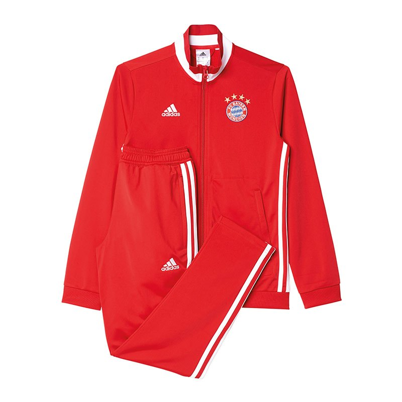 adidas fc bayern m nchen polyesteranzug kids rot. Black Bedroom Furniture Sets. Home Design Ideas