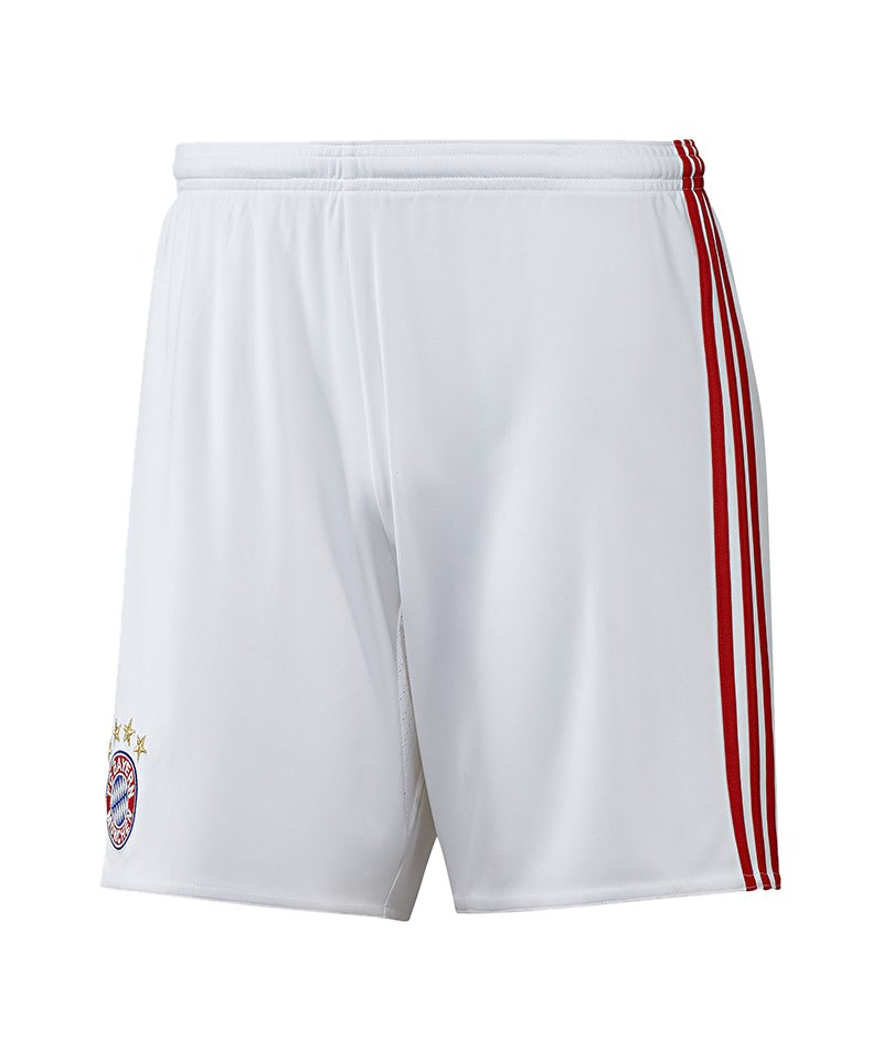 adidas fc bayern m nchen short home 2016 17 weiss hose. Black Bedroom Furniture Sets. Home Design Ideas