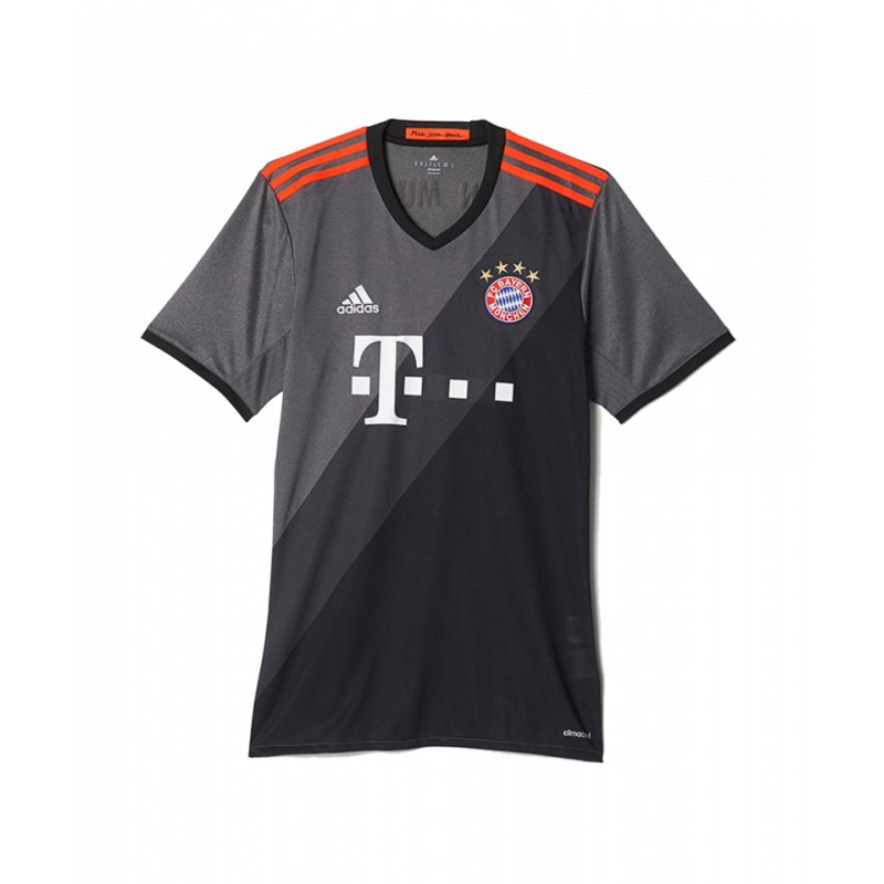 adidas fc bayern m nchen trikot away 2016 17 grau jersey. Black Bedroom Furniture Sets. Home Design Ideas