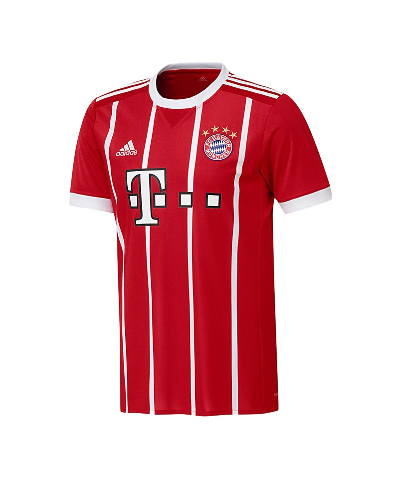adidas fc bayern m nchen trikot home 2017 2018 fanshop heimtrikot fcb aktuell rot. Black Bedroom Furniture Sets. Home Design Ideas