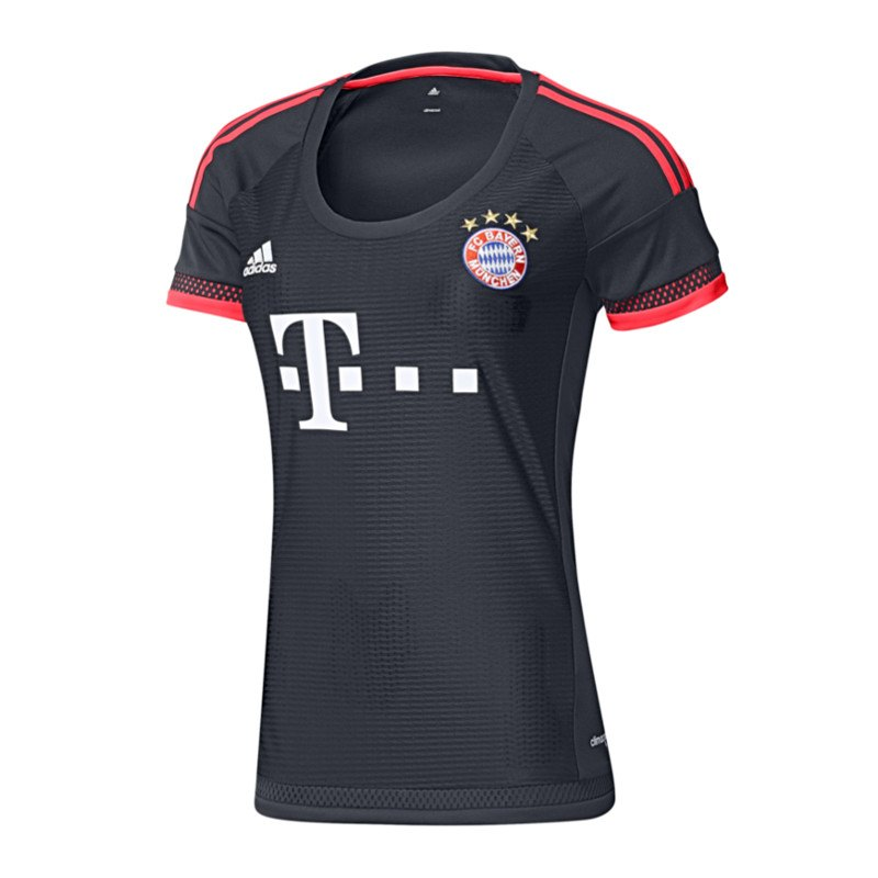 adidas fc bayern m nchen trikot ucl wmns 2015 16. Black Bedroom Furniture Sets. Home Design Ideas
