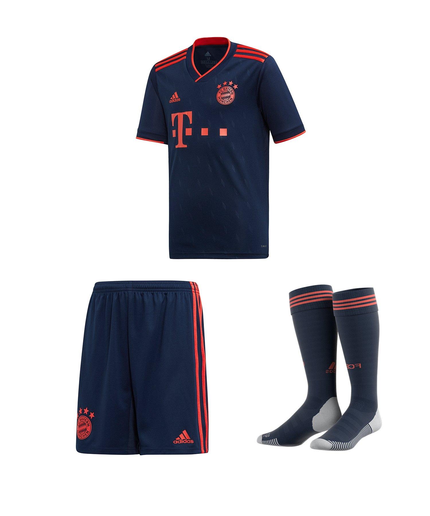 shopping cost charm high quality adidas FC Bayern München Trikotset UCL 2019/2020 Kids Blau