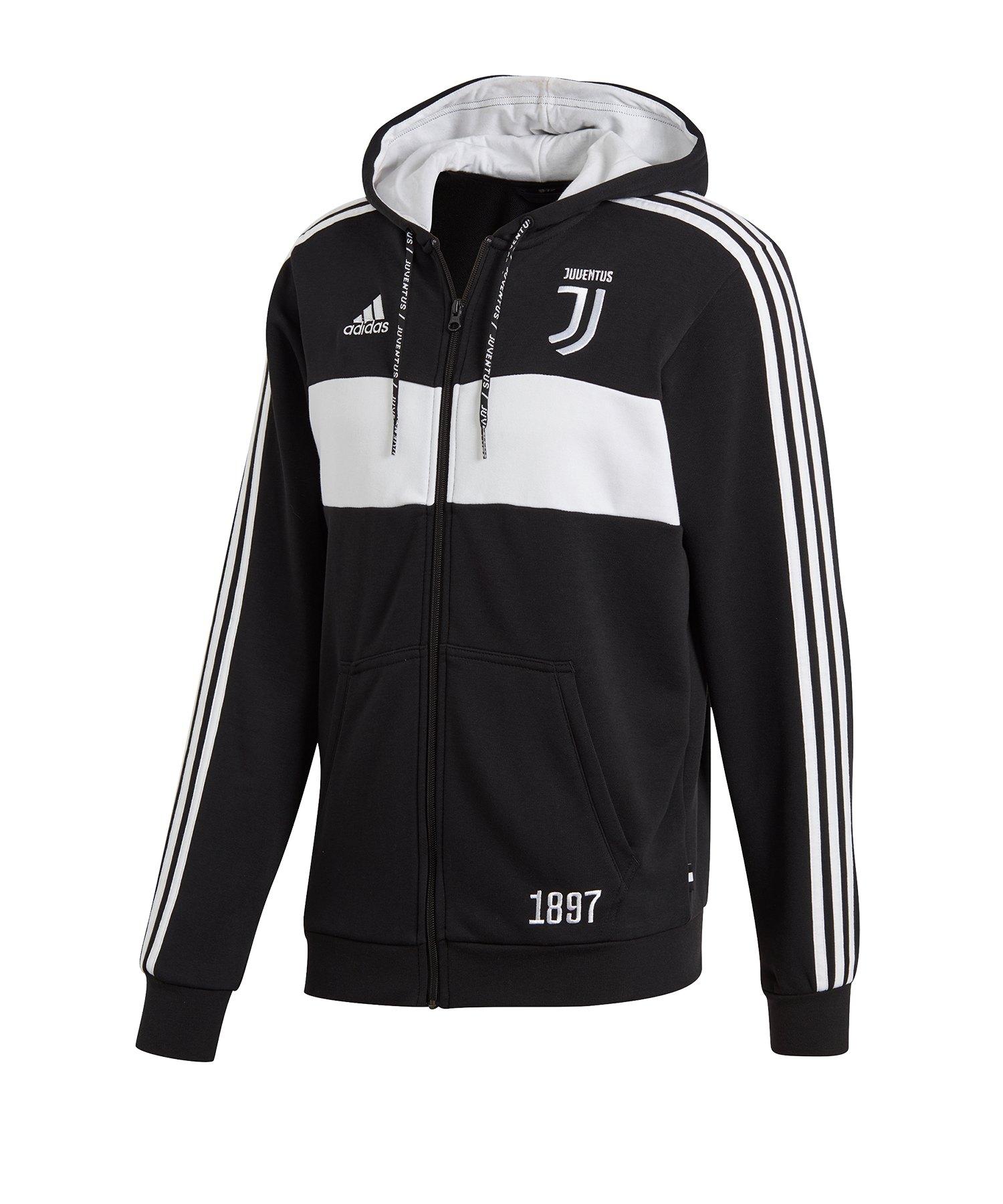 adidas Juventus Turin Kapuzenjacke Schwarz Weiss