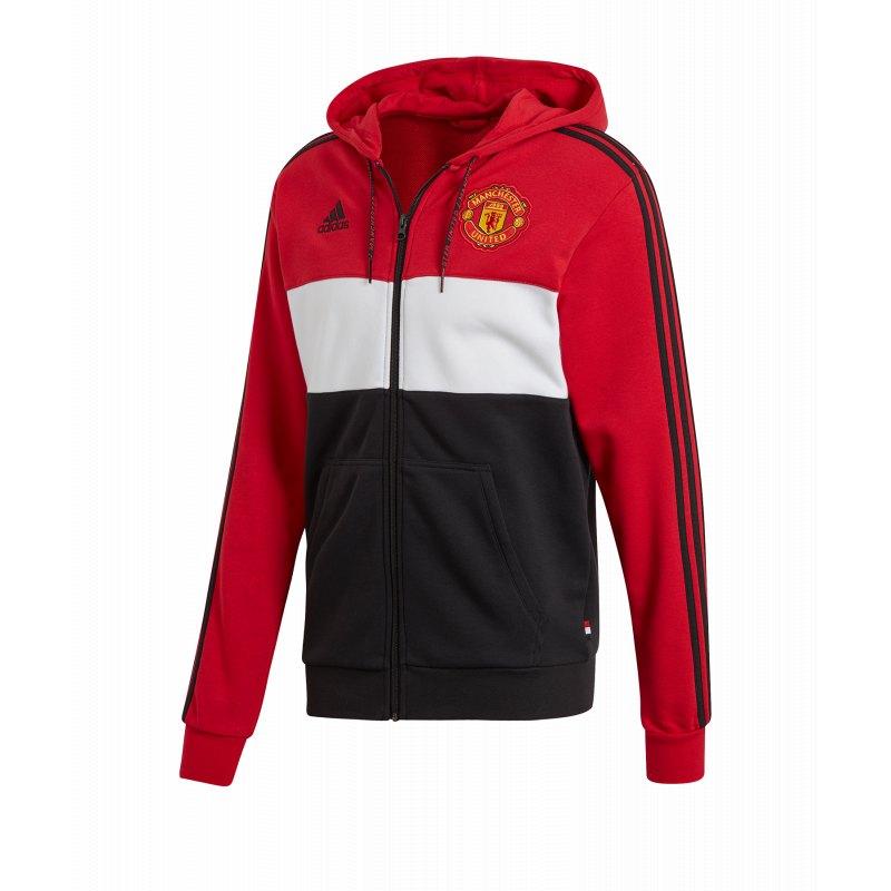 adidas Manchester United Kapuzenjacke Rot Schwarz