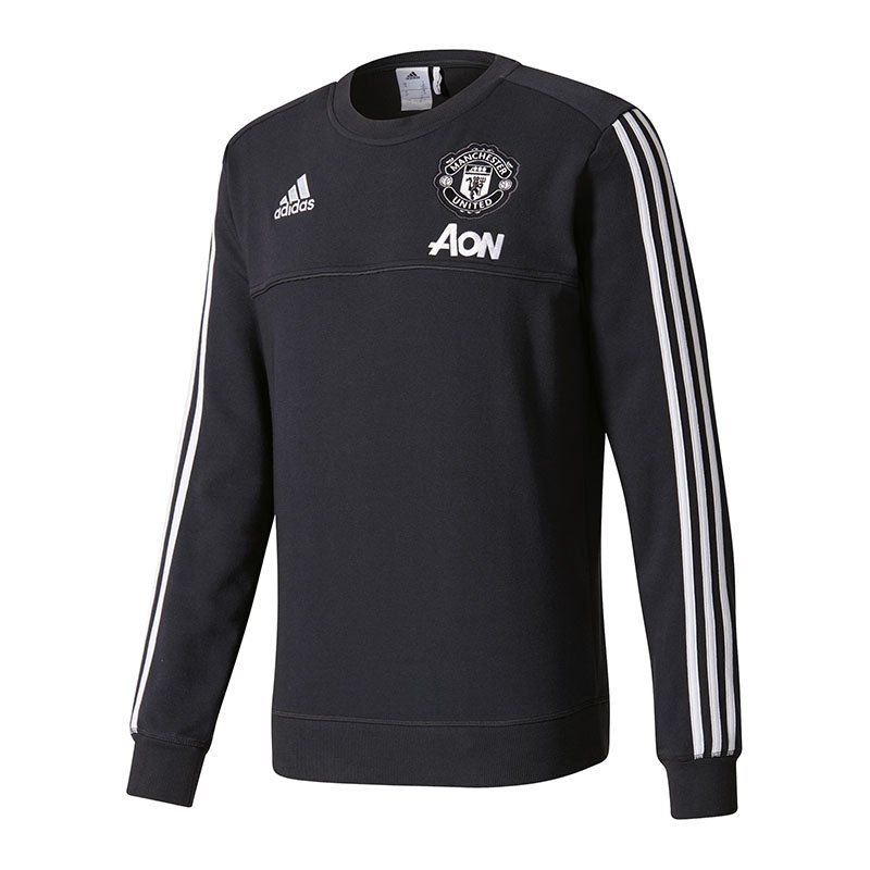 adidas manchester united sweat top grau weiss langarm herrenshirt men replica. Black Bedroom Furniture Sets. Home Design Ideas