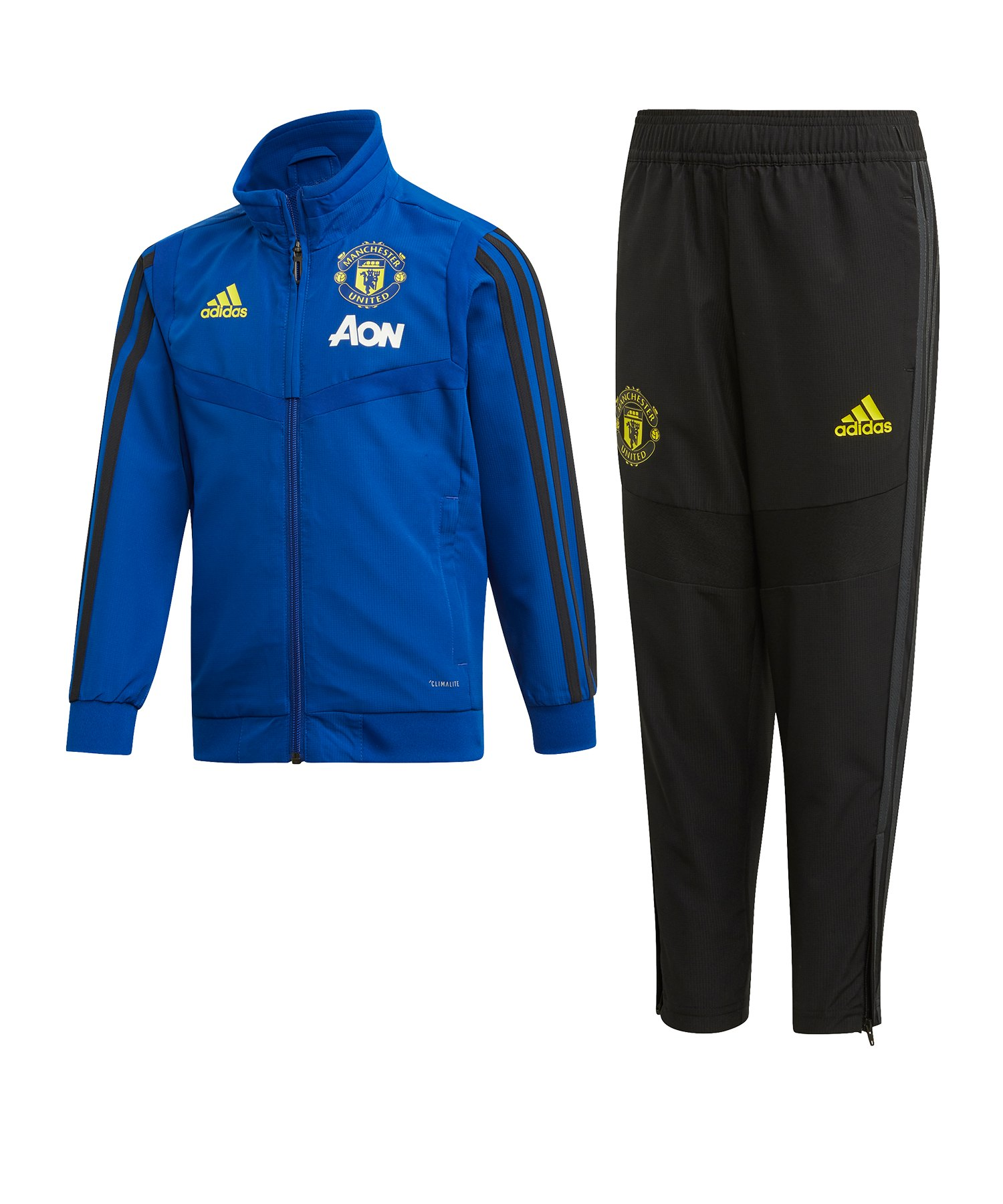 adidas Manchester United Trainingsanzug Kids Blau