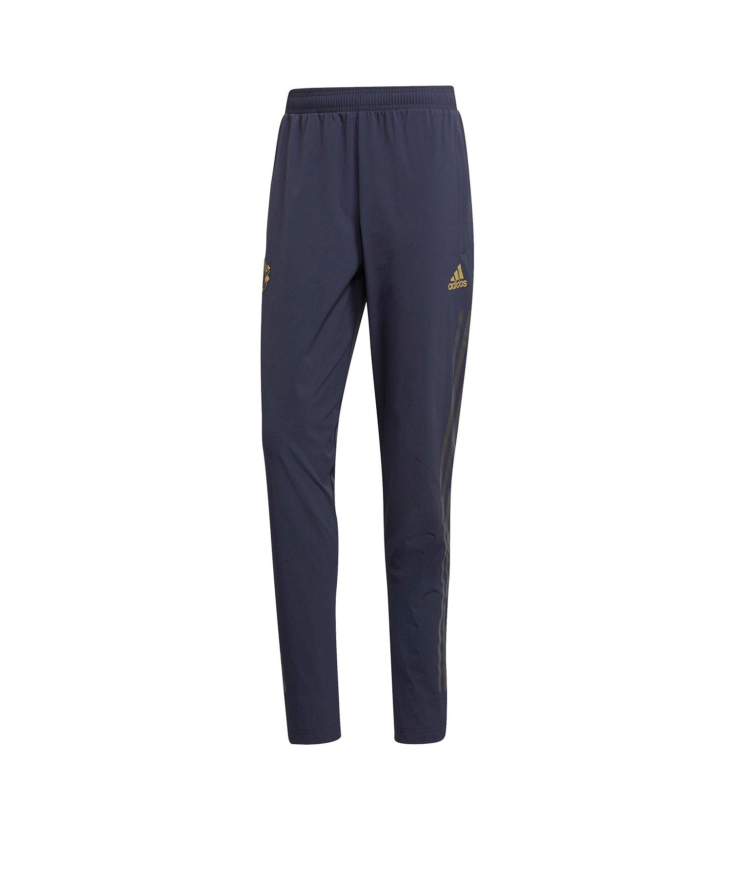 216d24437540b1 adidas Manchester United Trainingshose Pant Blau - blau