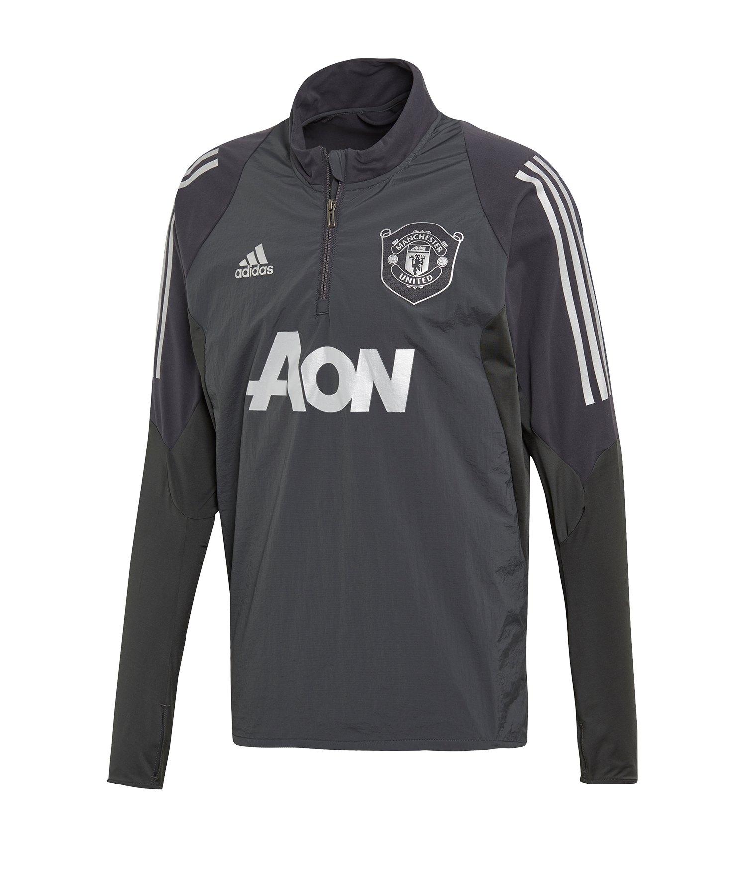 adidas Manchester United 14 Zip Top Schwarz