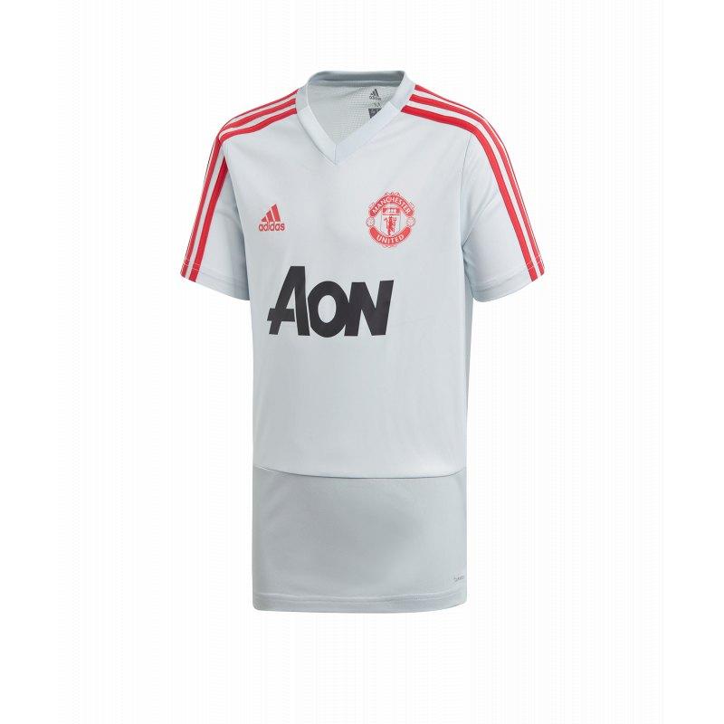 adidas Manchester United Trainingsshirt Kids Grau
