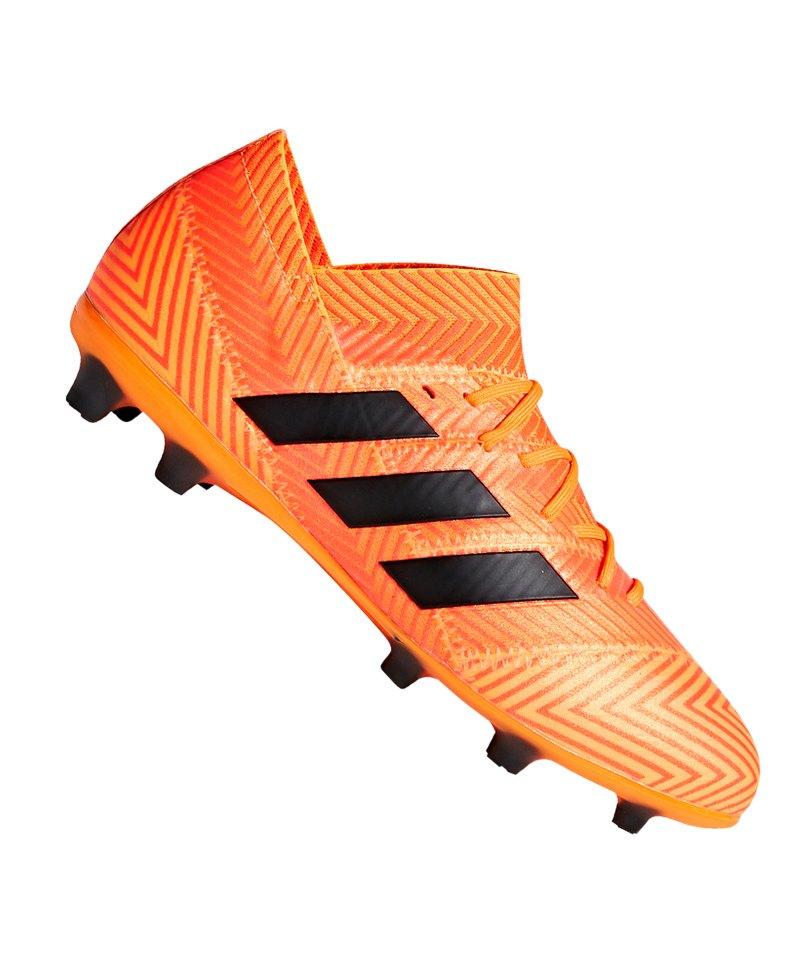 the best attitude e14a4 e955a Orange Schwarz Nemeziz J 18 Kids Fg 1 Cleets Adidas YwBv1q0x